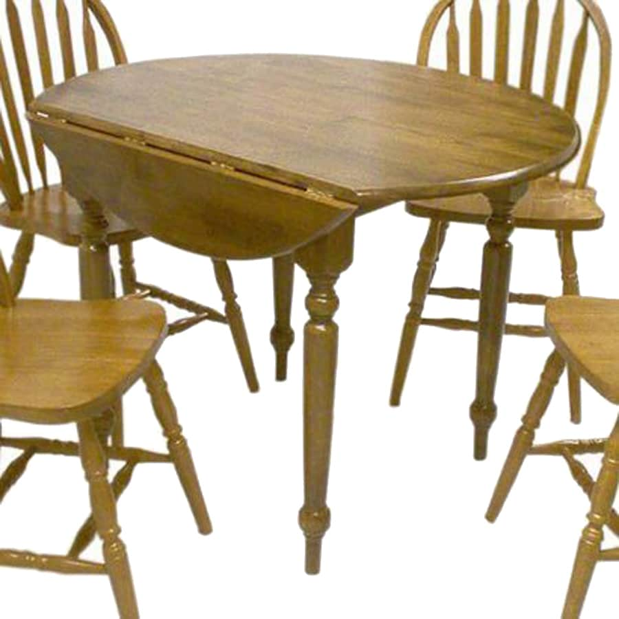 TMS Furniture Oak Wood Round Extending Dining Table