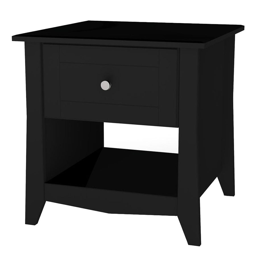 Nexera Tuxedo Black Lacquer/Melamine End Table