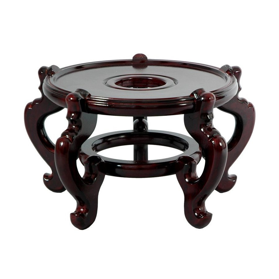 Oriental Furniture Dark Rosewood Round End Table