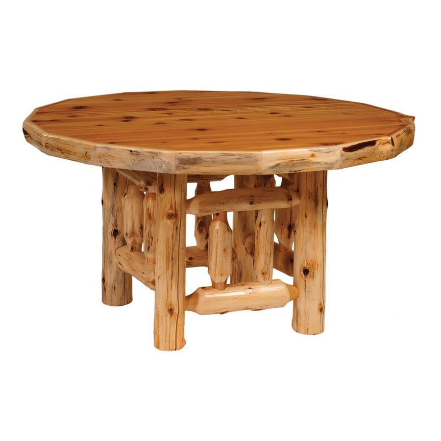 Shop fireside lodge furniture cedar wood round dining for Shop dining tables