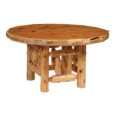 Fireside Lodge Furniture Cedar Wood Round Dining Table at ...