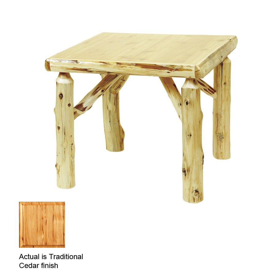 Fireside Lodge Furniture Traditional Cedar Square Dining Table