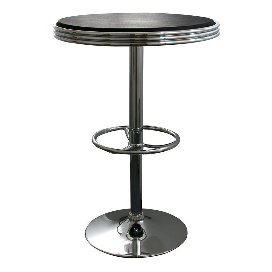 Buffalo Polished Chrome Round Dining Table