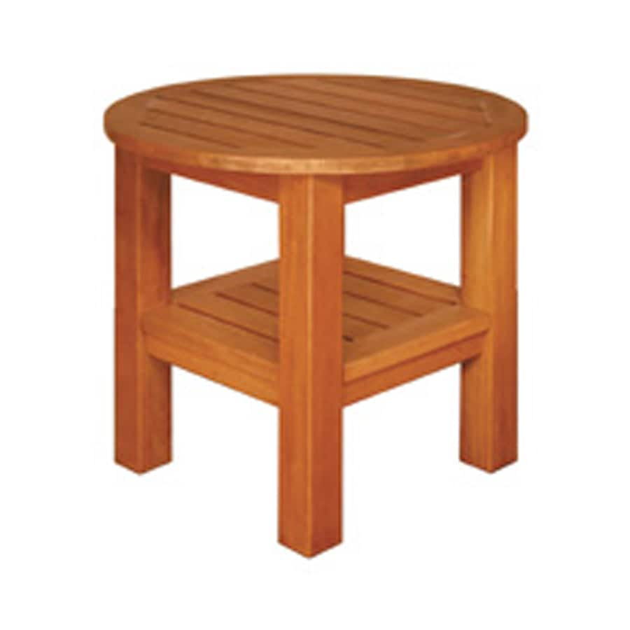Blue Star Group Brown Asian Hardwood Round End Table