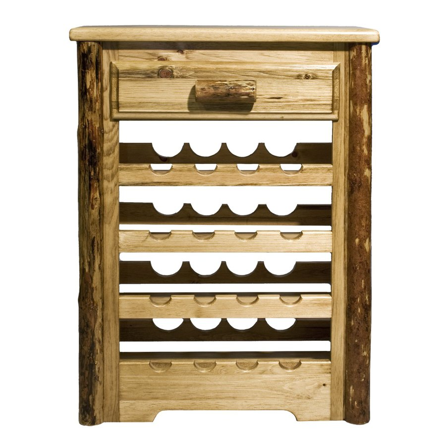 Shop montana woodworks glacier country 16 bottle stained for Floor wine rack