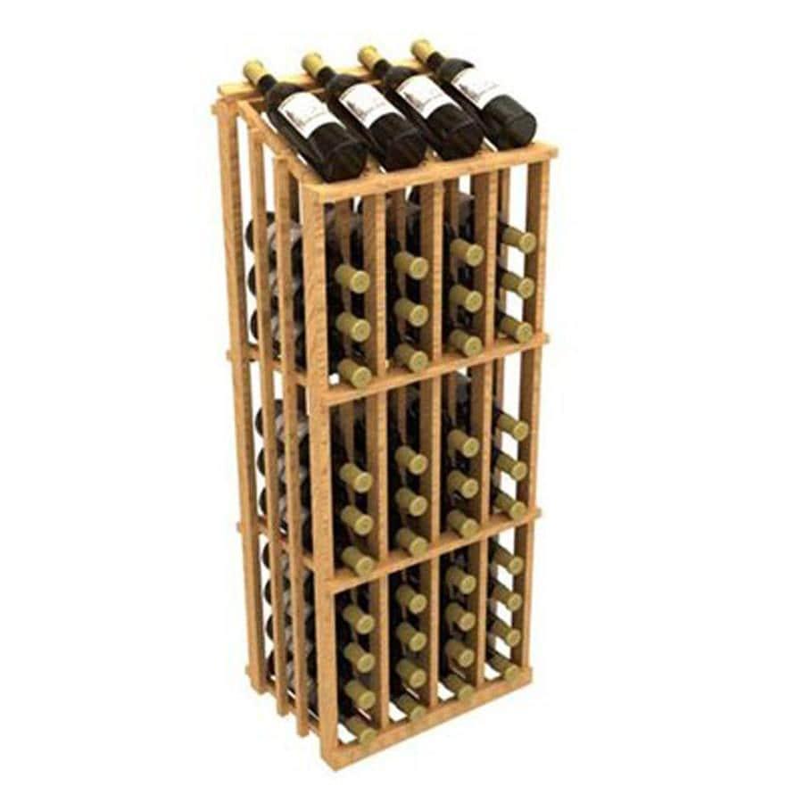 Ironwine Cellars Commercial 52-Bottle Pine Freestanding Floor Wine Rack