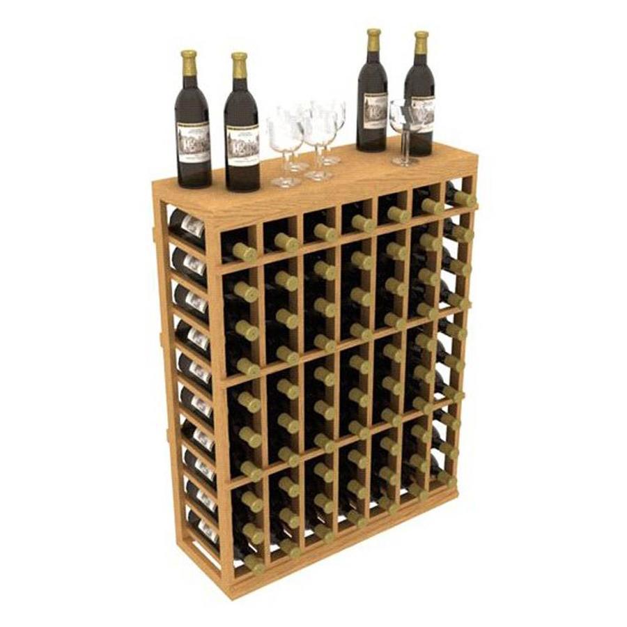Ironwine Cellars Stackables 70-Bottle Redwood Freestanding Floor Wine Rack