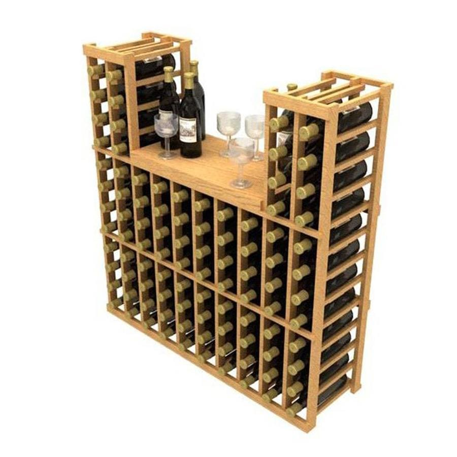 Ironwine Cellars Stackables 96 Bottle Pine Freestanding