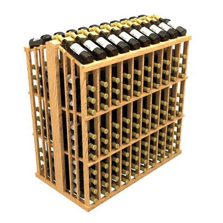 Ironwine Cellars Commercial 260-Bottle Pine Freestanding Floor Wine Rack