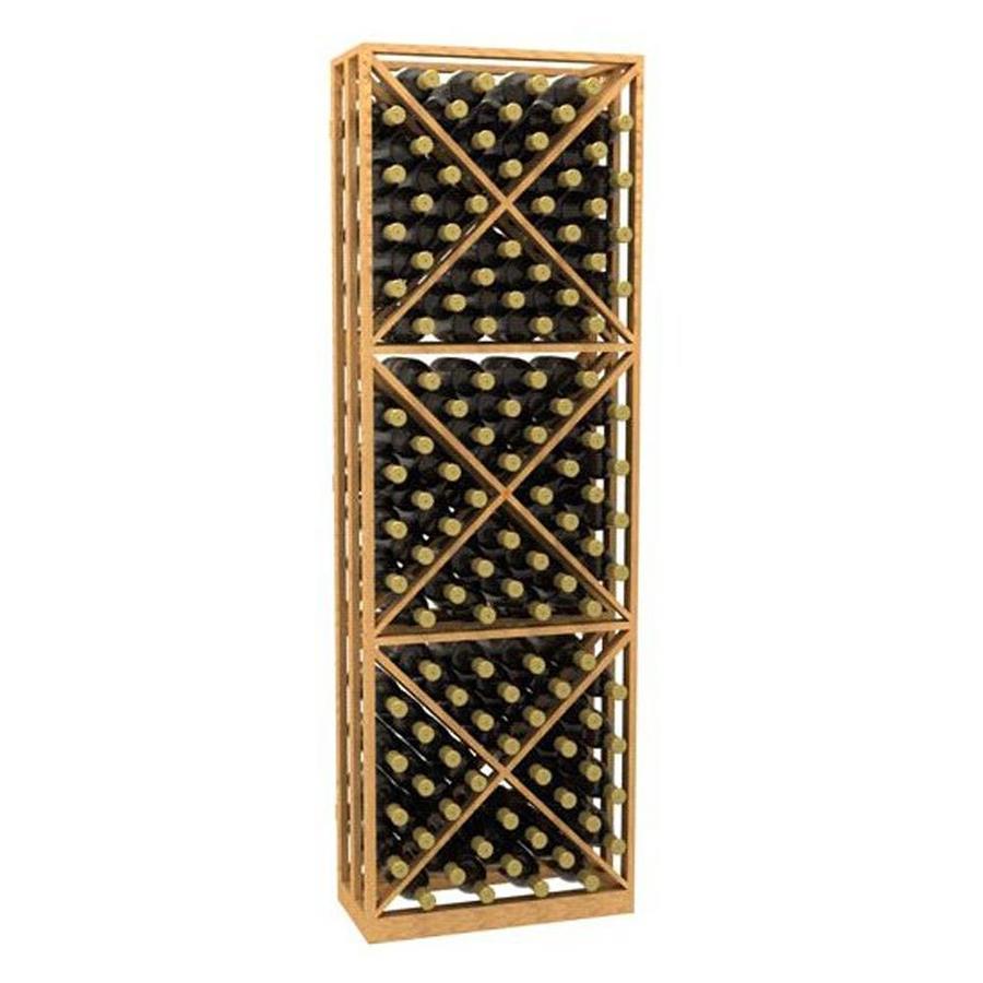 Ironwine Cellars Collection Series 132-Bottle Redwood Freestanding Floor Wine Rack