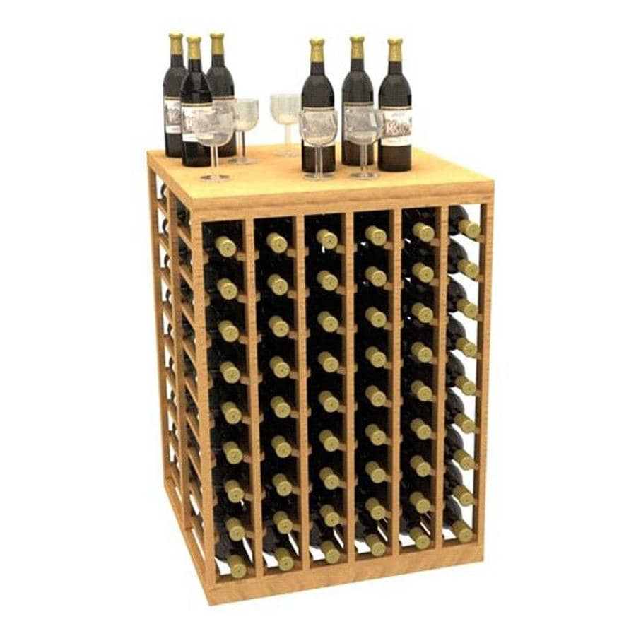 Ironwine Cellars Collection Series 108-Bottle Mahogany Freestanding Floor Wine Rack