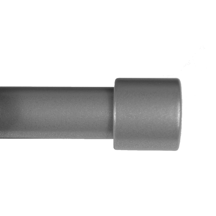 BCL Drapery Classic Verona 48-in to 86-in Pewter Steel Curtain Rod Set