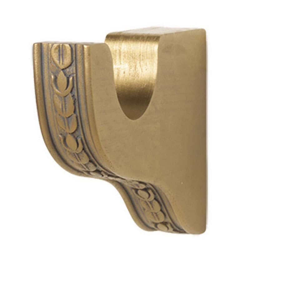 shop gould new york provence wood curtain rod bracket at lowes