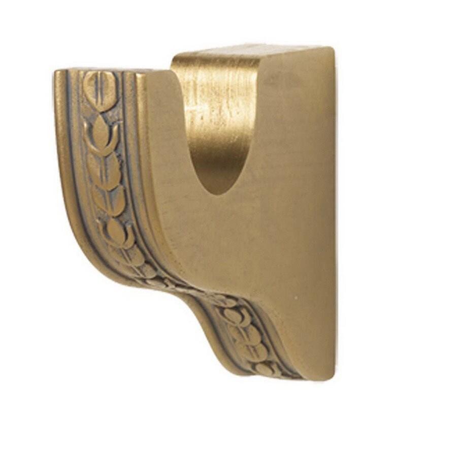 Gould New York Golden Mahogany Wood Curtain Rod Bracket