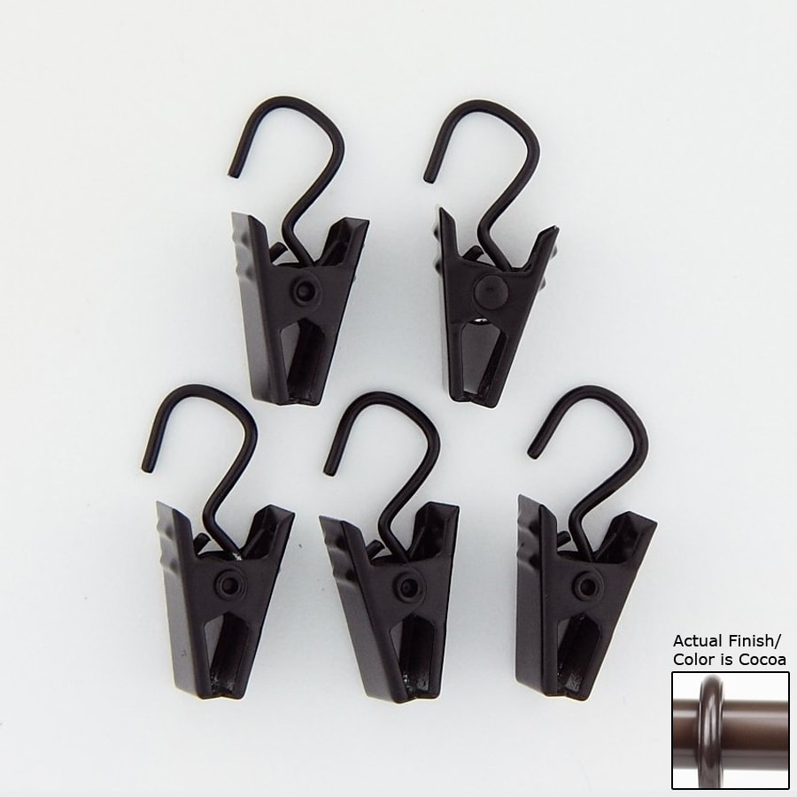 Rod Desyne 24-Pack Cocoa Steel Curtain Clips
