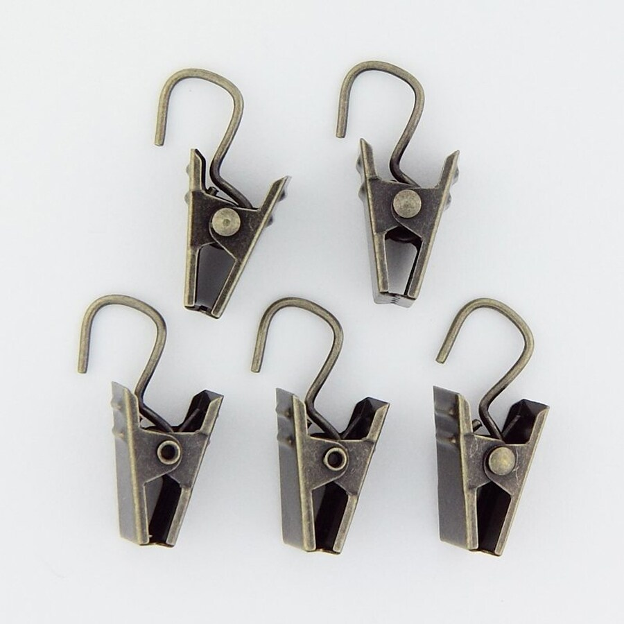 Rod Desyne 24-Pack Antique Brass Steel Curtain Clips