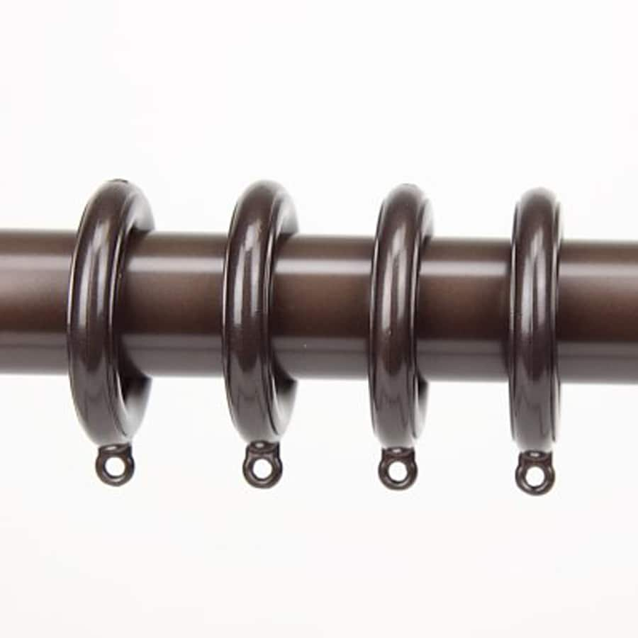 Rod Desyne 10-Pack 1.75-in Cocoa Plastic Curtain Rings