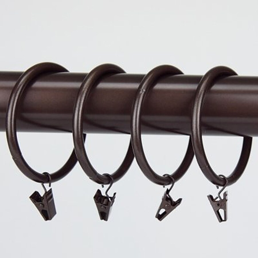 Rod Desyne 10-Pack 2.5-in Cocoa Steel Curtain Rings