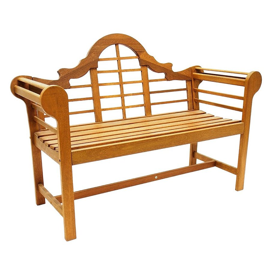 ACHLA Designs Lutyen 23-in W x 54-in L Natural Oil Eucalyptus Patio Bench