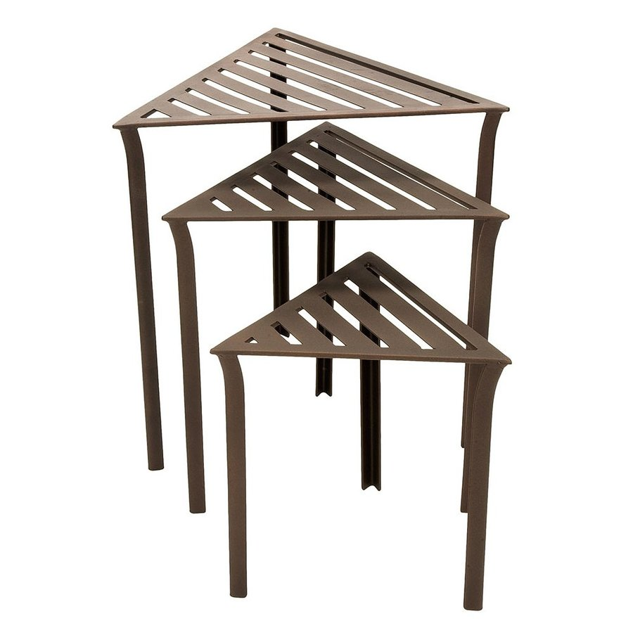 ACHLA Designs Triangle Wrought Iron End Table