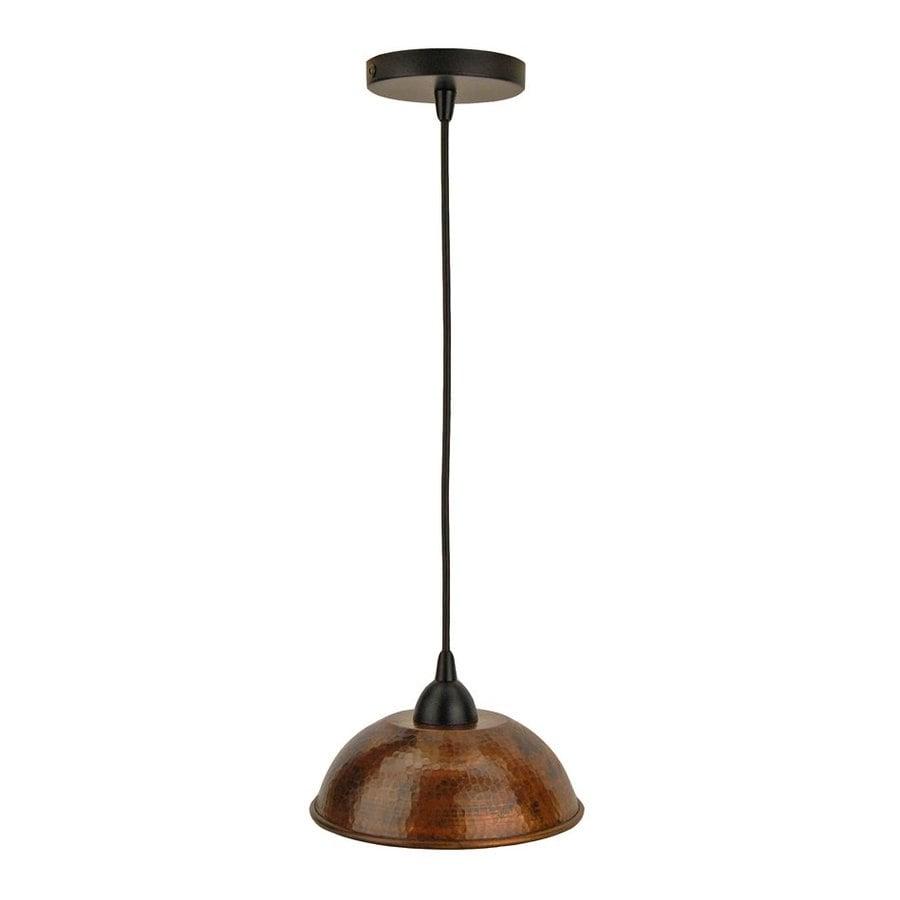 Premier Copper Products 8.5-in Oil-Rubbed Bronze Rustic Mini Dome Pendant