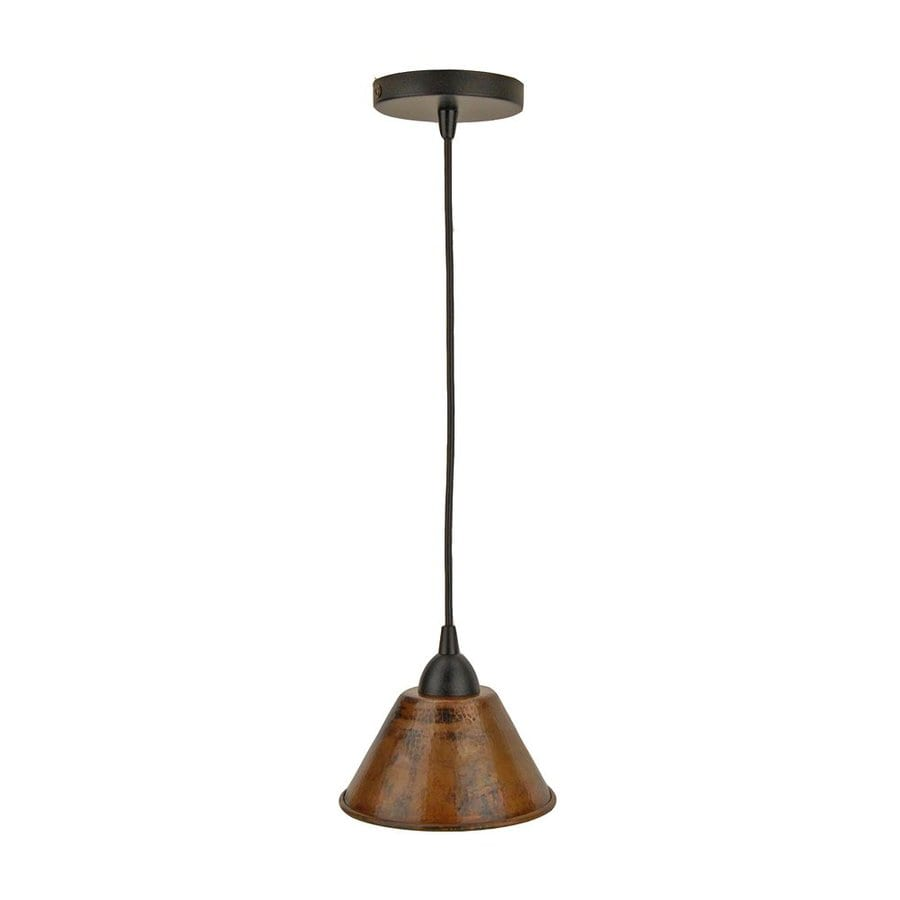 Shop premier copper products 7 in oil rubbed bronze rustic mini cone premier copper products 7 in oil rubbed bronze rustic mini cone pendant aloadofball Gallery