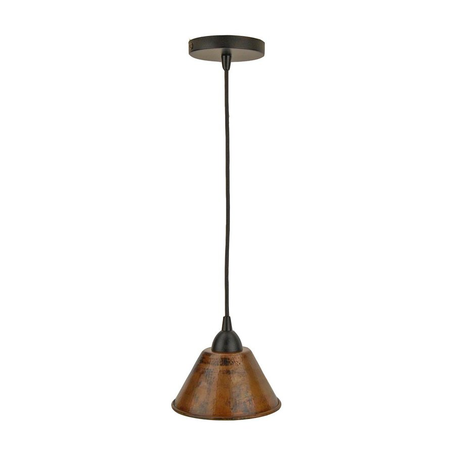copper mini pendant light. Premier Copper Products 7-in Oil-Rubbed Bronze Rustic Mini Cone Pendant Light 6