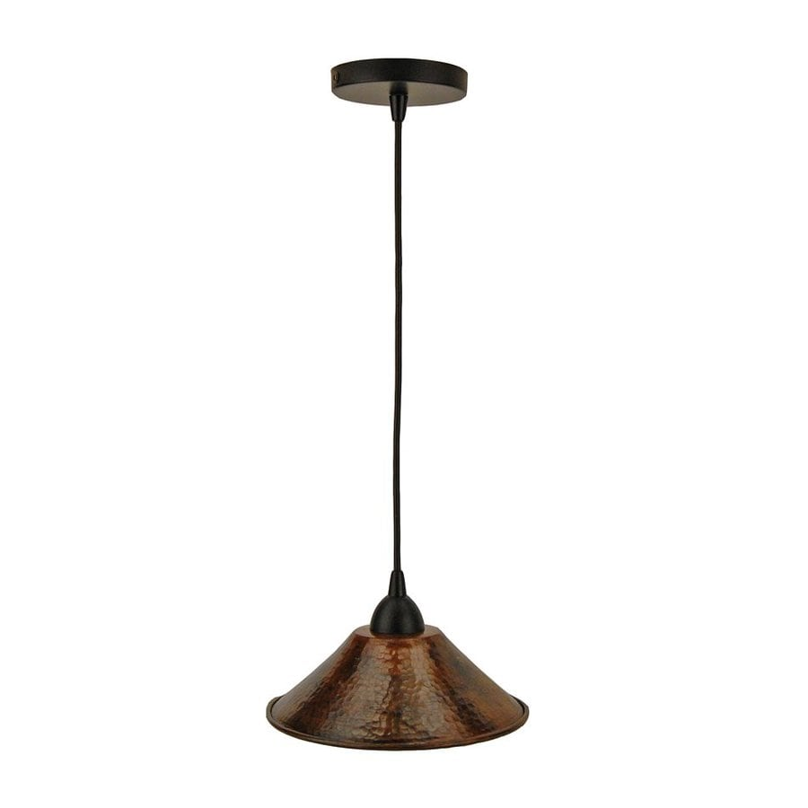 Premier Copper Products 9-in Oil-Rubbed Bronze Rustic Mini Cone Pendant