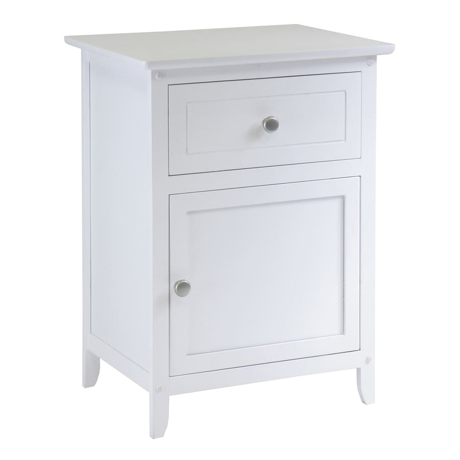 Shop winsome wood eugene white nightstand at for White wood nightstand