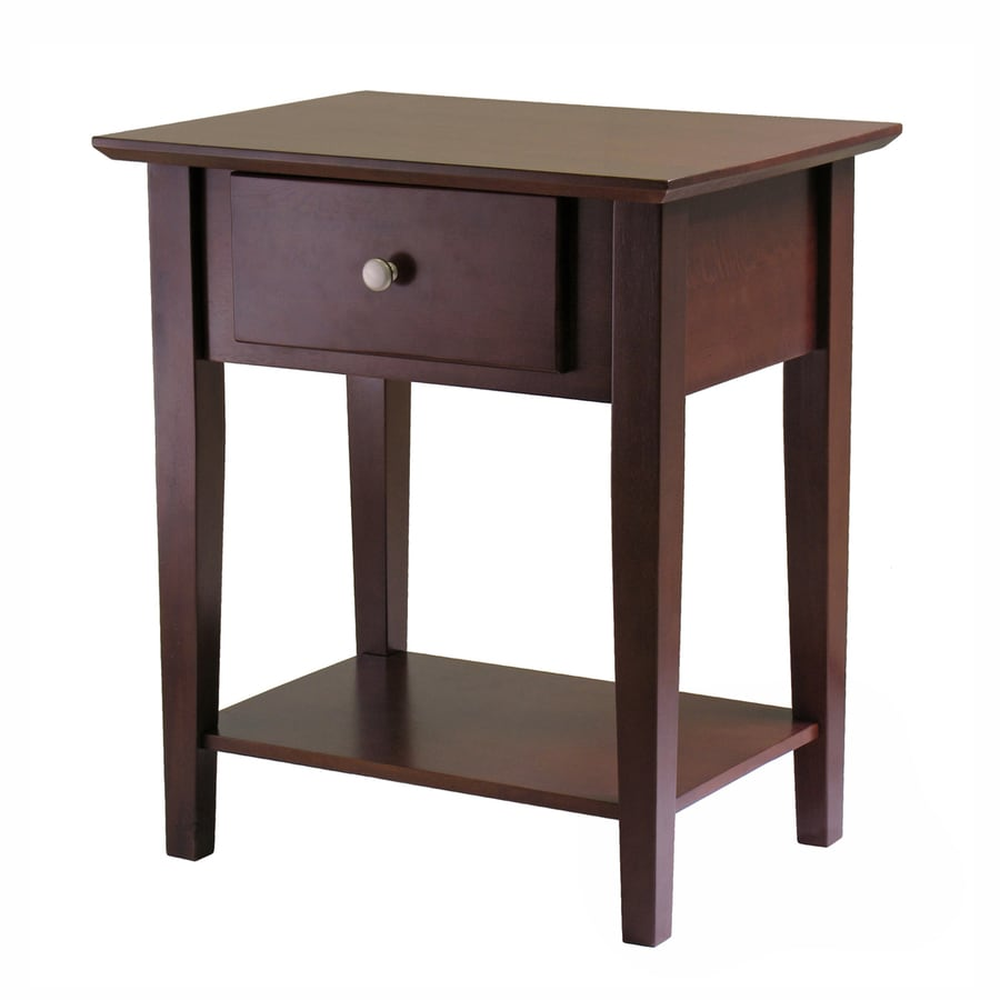 Winsome Wood Shaker Antique Walnut Nightstand