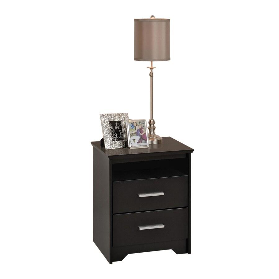 Prepac Furniture Coal Harbor Black Nightstand