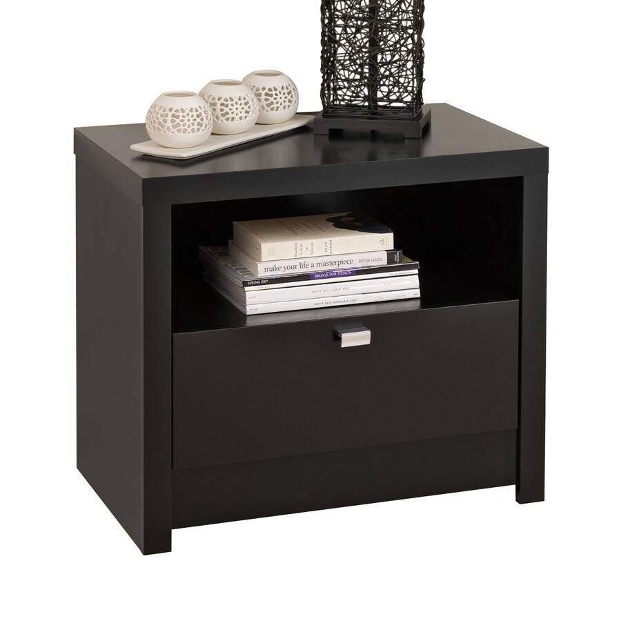 Prepac Furniture Series 9 Designer Black Nightstand
