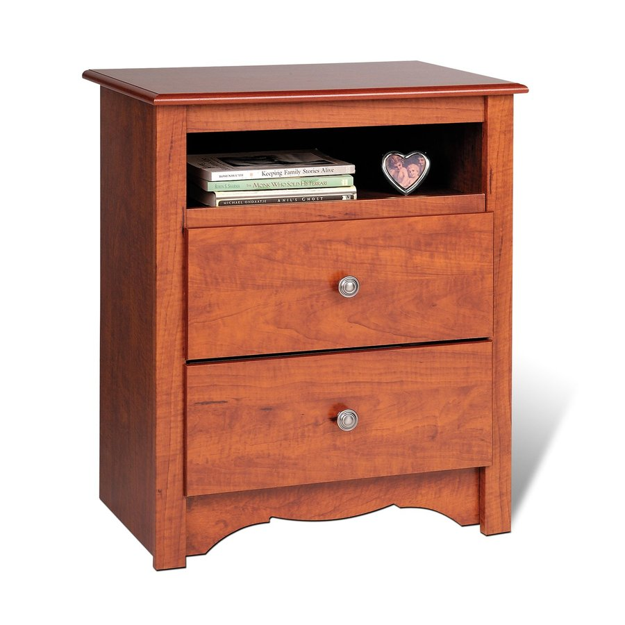 ... Prepac Furniture Monterey Cherry (Composite) Nightstand at Lowes.com