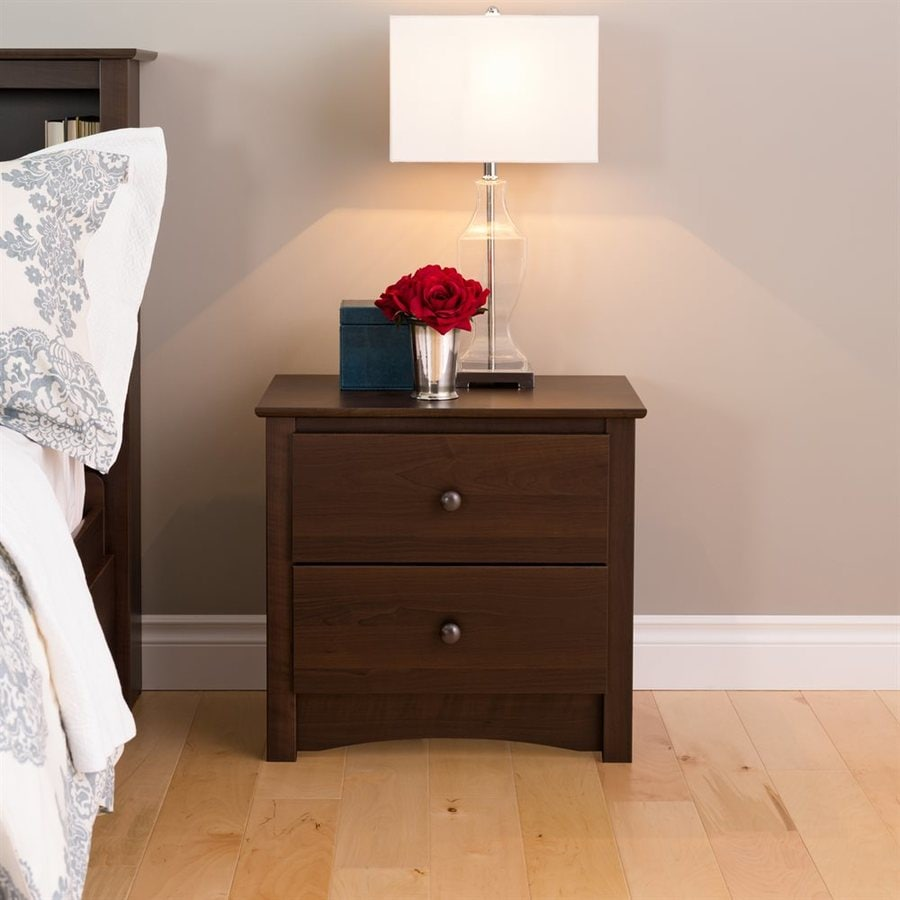 Prepac Furniture Espresso Composite Nightstand