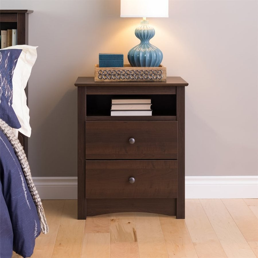 Prepac Furniture Espresso Nightstand