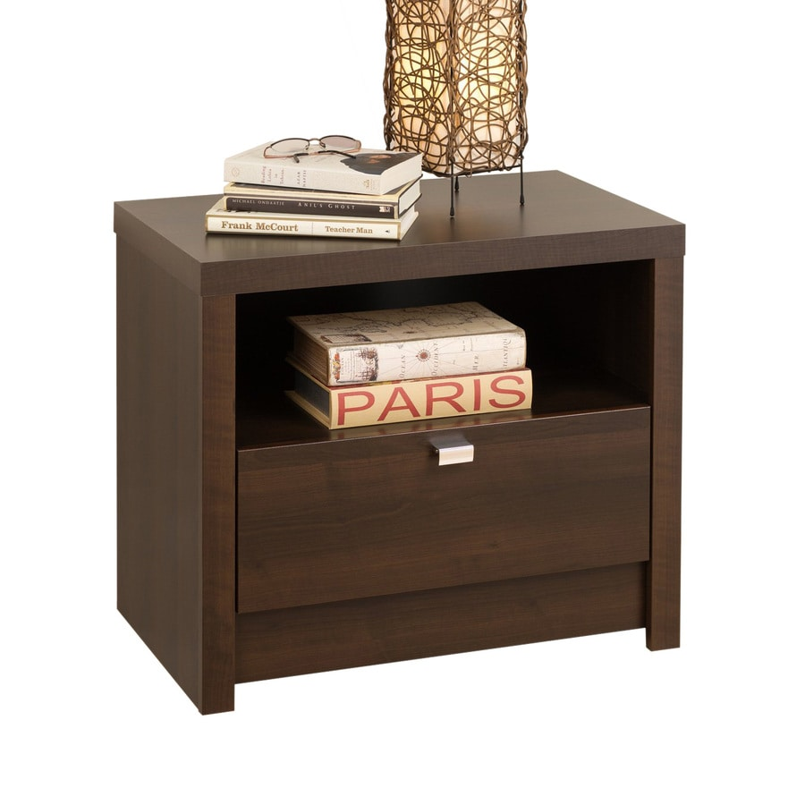 Prepac Furniture Series 9 Designer Espresso Nightstand