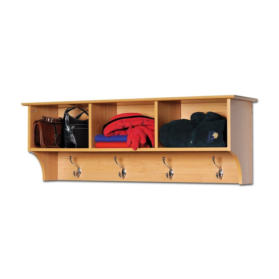 Prepac Furniture Maple 8-Hook Mounted Coat Rack