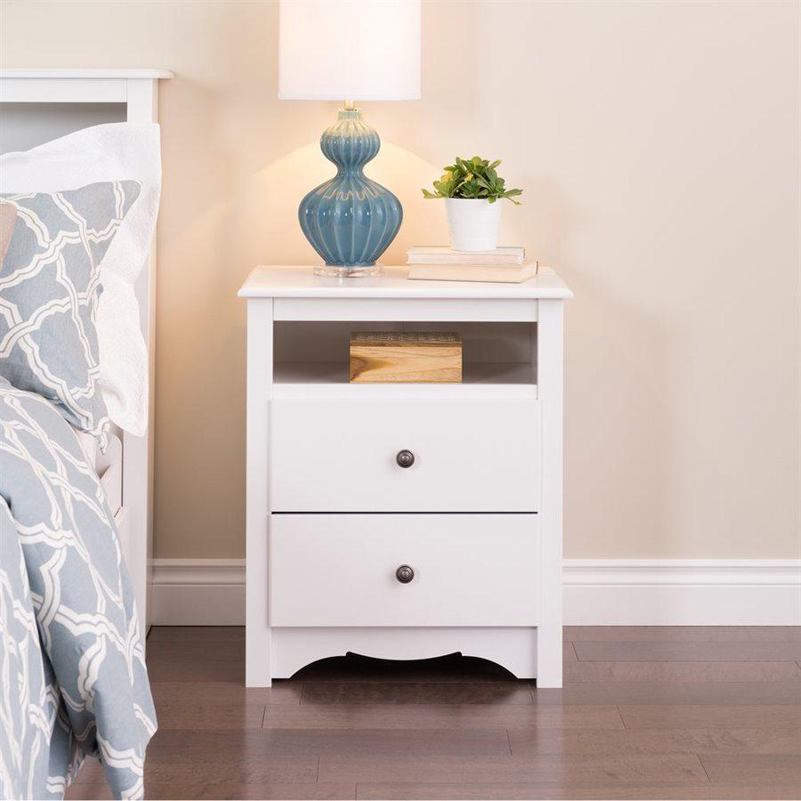 Prepac Furniture White Composite Nightstand