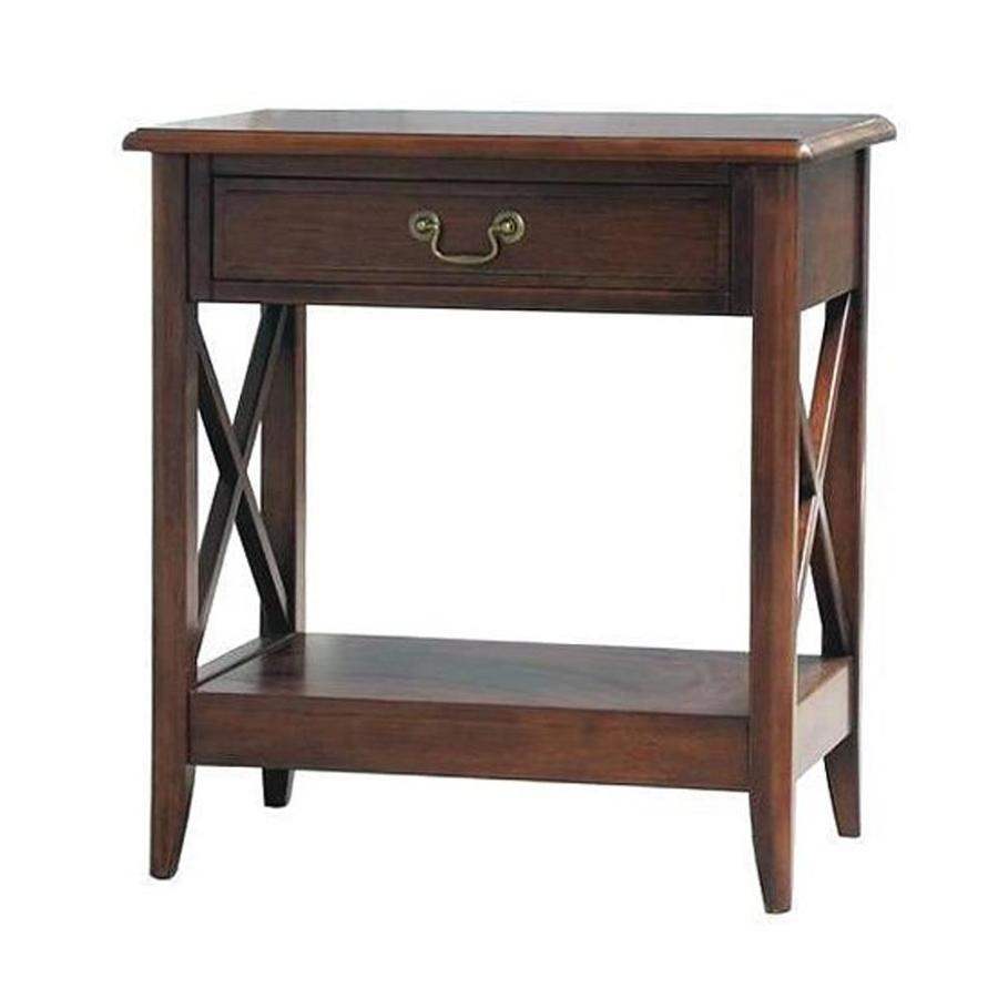 Wayborn Furniture Eiffel Chocolate Brown Birch Nightstand