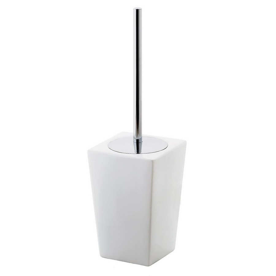 Nameeks Gedy Jamila White Ceramic Toilet Brush Holder