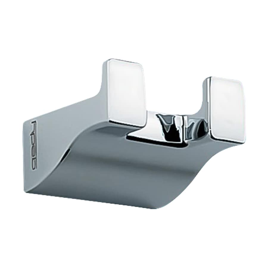 Nameeks Glamour 2-Hook Chrome Robe Hook