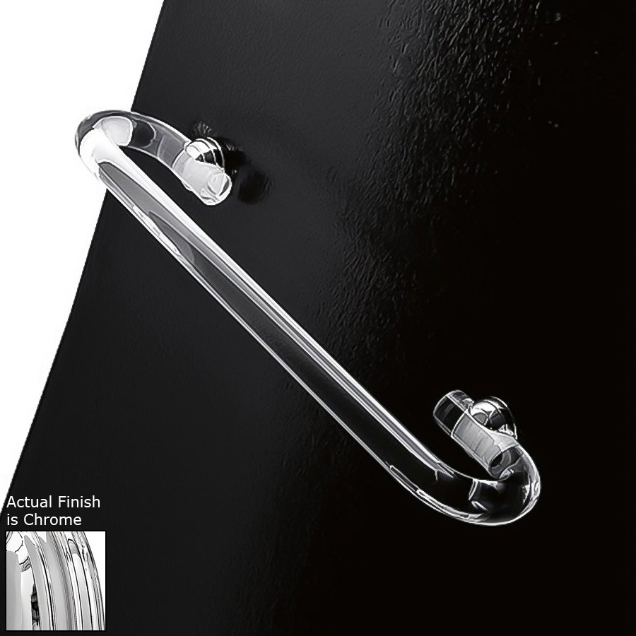 Nameeks Orchidea Transparent Single Towel Bar (Common: 24-in; Actual: 24-in)