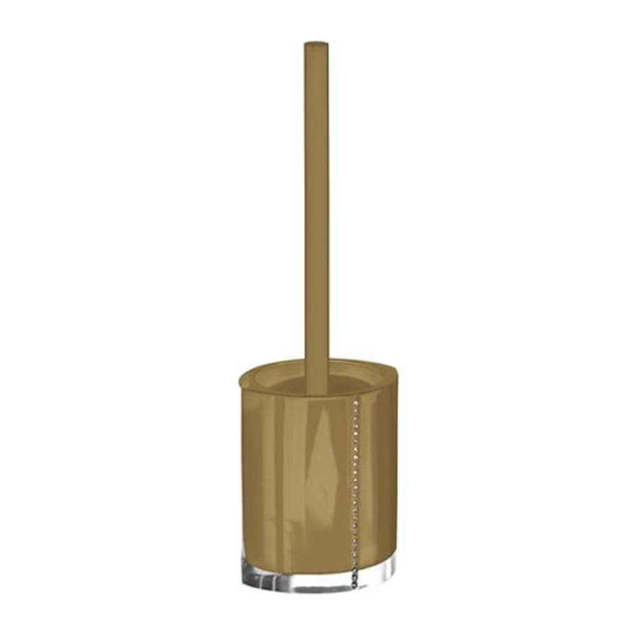 Nameeks Diamonds Gold Plastic Toilet Brush Holder