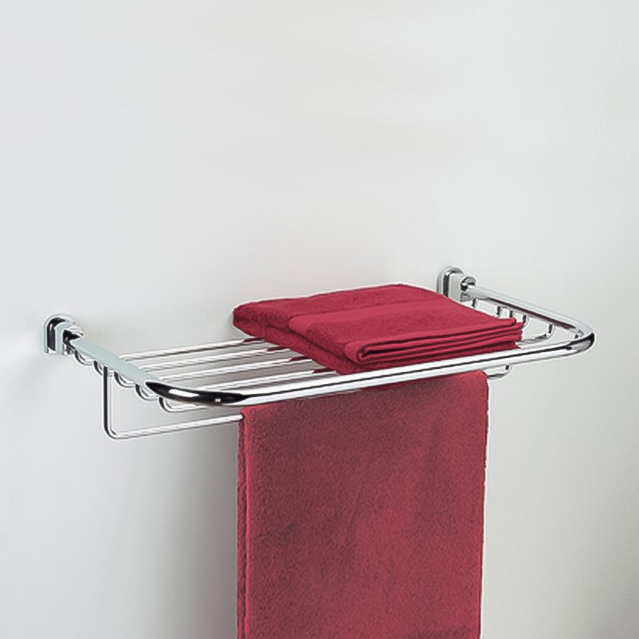 Nameeks Bellaterra Chrome Rack Towel Bar (Common: 23-in; Actual: 22.5-in)