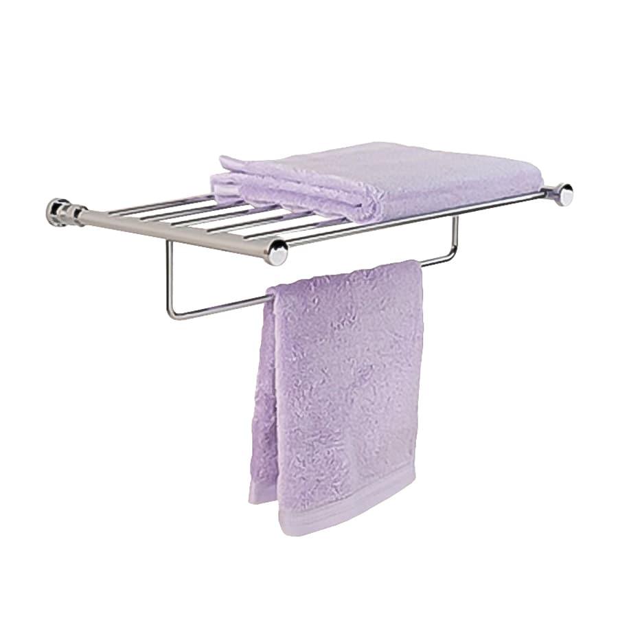 Nameeks Cylinder Satin Nickel Rack Towel Bar (Common: 20-in; Actual: 19.5-in)