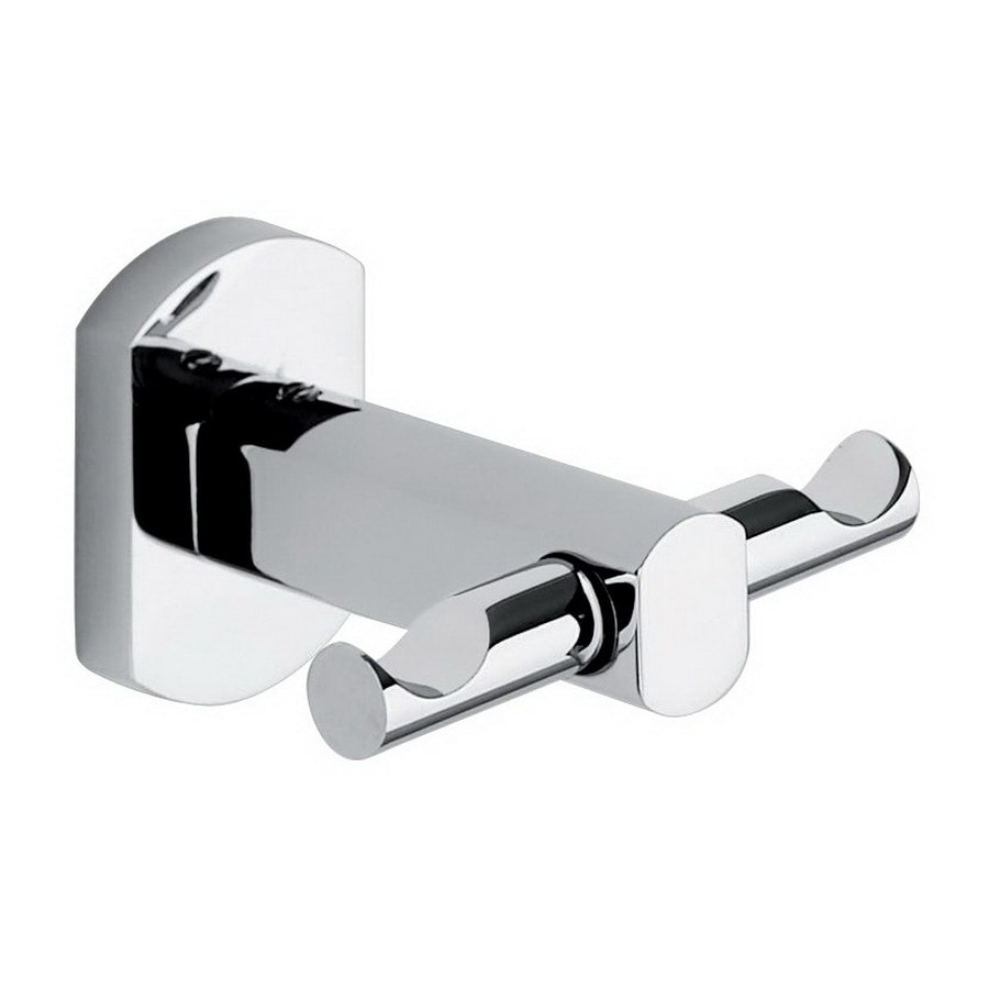 Nameeks Edera 2-Hook Chrome Robe Hook