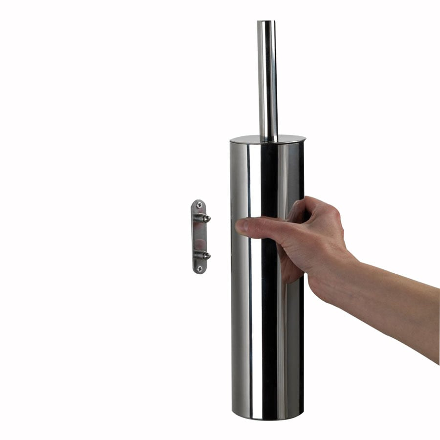 Nameeks Gedy Edera Chrome Stainless Steel Toilet Brush Holder