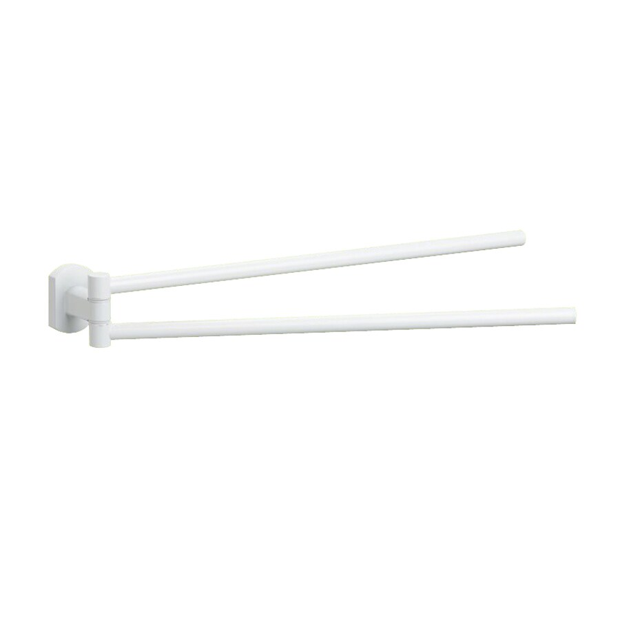 Nameeks Edera White Double Towel Bar (Common: 14-in; Actual: 14.1-in)