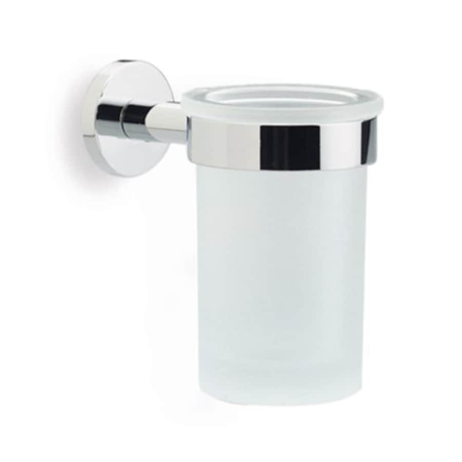 Nameeks Medea Chrome Brass and Frosted Glass Tumbler