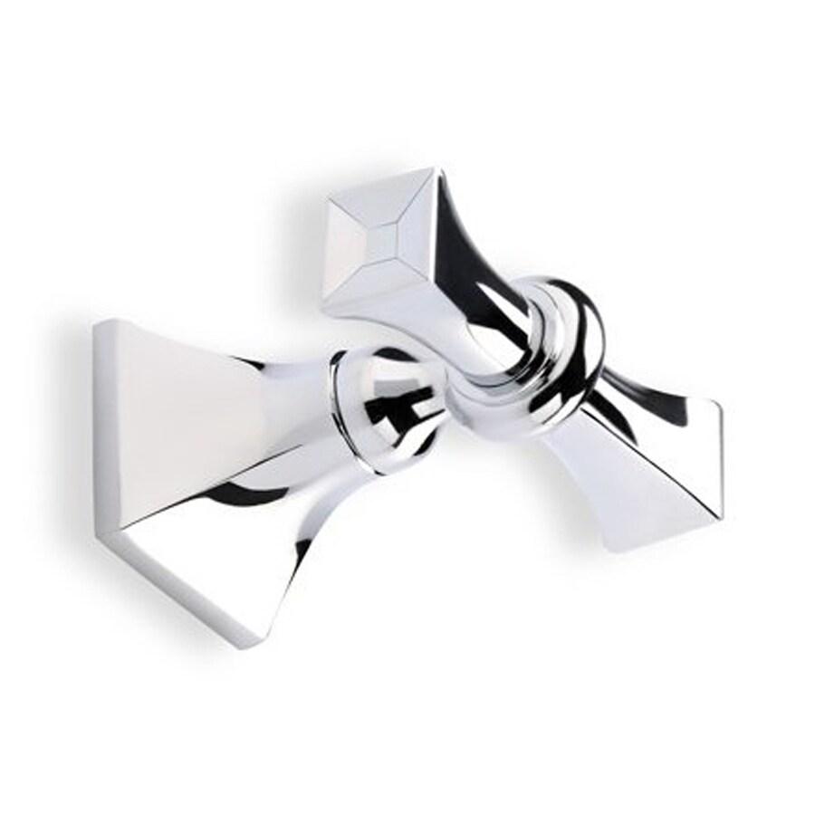 Nameeks Prisma 2-Hook Chrome Towel Hook